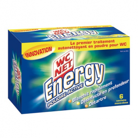 WC net poudre energy détartrante x6sac