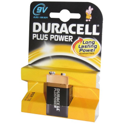 Pile alcaline 9V Duracell Plus Power x 1 - 9V