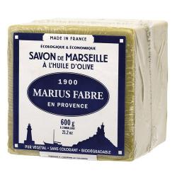 Savon Marseille huile d'olive 600g MARIUS FABRE