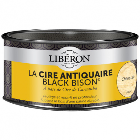 Cire black bison Liberon chêne clair 500CC