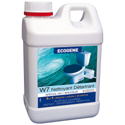 Nettoyant détartrant WC portable broyeur ECOGENE W7 2l