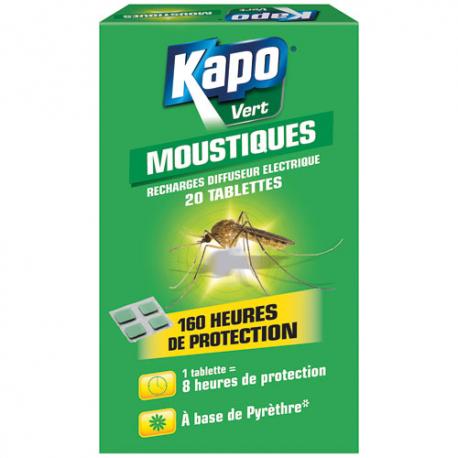 Kapo moustique recharge x20 100% végétal