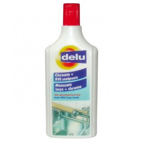 Delu moussant inox chrome 250ML